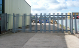 Swing security gates, manually operated