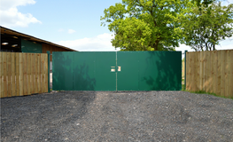 Sheeted security gates, farming and industrial yards