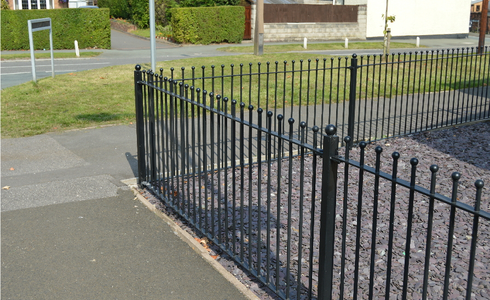 Decorative fencing railings