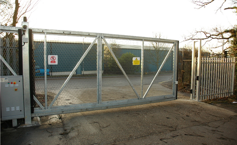 Safeslide 6m wide automatic sliding gate