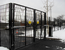 automatic swing gates in black