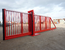 Manual sliding security gate