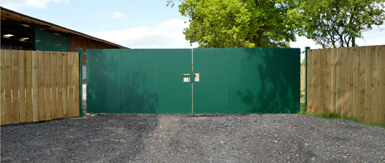sheeted security gates